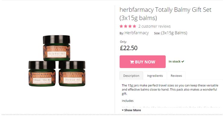 herbfarmacy Totally Balmy Gift Set (3x15g balms) ((3x15g Balms) )